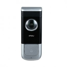 Videocitofono doorbell 2mp wired 1.9mm/ir5/wifi/pir/microsd/bat5mesi