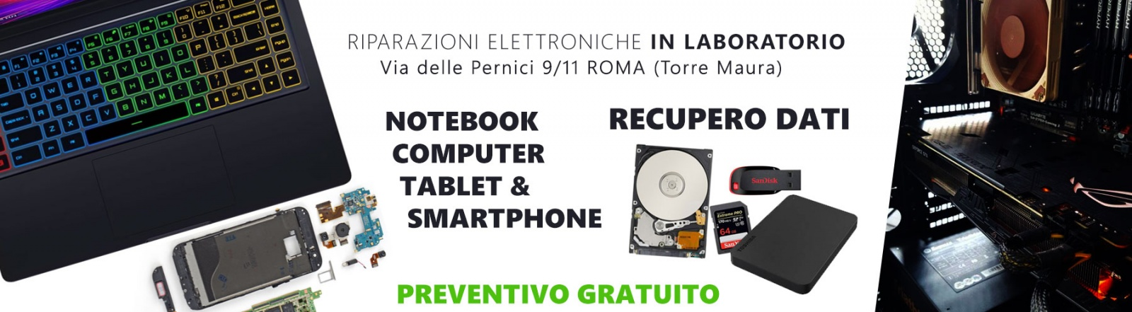 Assistenza computer notebook smartphone tablet Roma