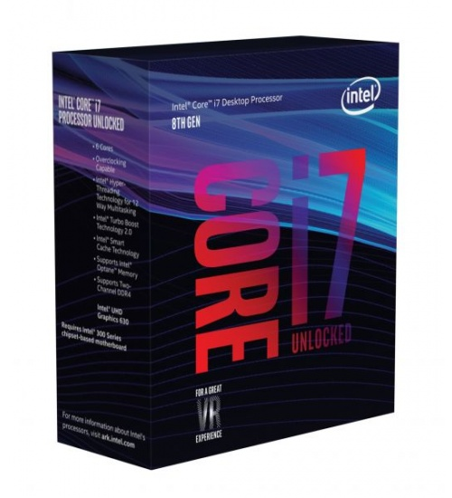 Processore cpu intel i7-8700k 3,70ghz socket 1151 coffeelake 12mb cache 95w