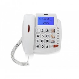 Telefono fisso bravo 90 lcd bianco audio boost/vivavoce/lista chiamate