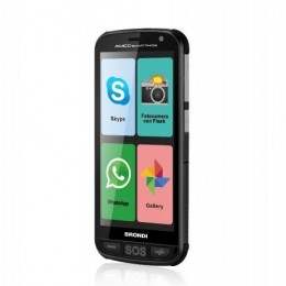 Smartphone amico+ brondi ds 4gb 3g 5,0 tasto sos android base ricaric