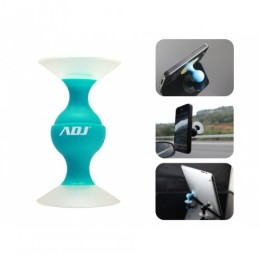 Supporto auto smartphone fox blu c/ventosa ruotabile adj