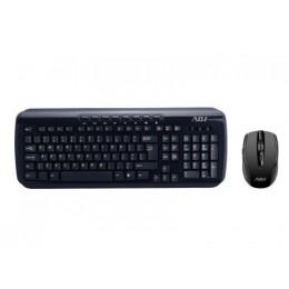Tastiera/mouse kit wifi shine bk 1000dpi 112tasti multiplug&playadj