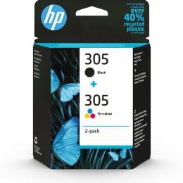 Hp 305 2pack tricolorblack ink
