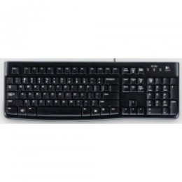 Tastiera k120 log black usb slim retail logitech