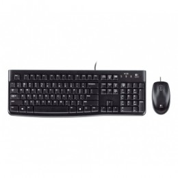 Tastiera mk120 log + mouse nera usb retail