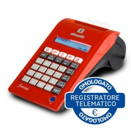 Registratore cassa olivetti form100 2disp 12rep tras. tel. no battery