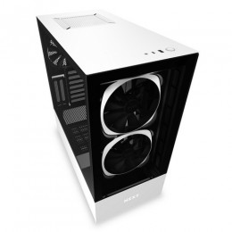 Nzxt gaming case h510 elite comp.mid t.nero/bianco -2*140 aer rgb f-1*led s
