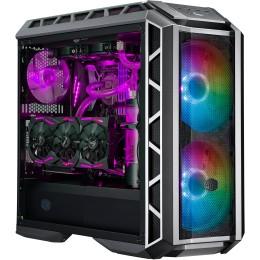 Case mastercase h500p mesh argb,2usb3,audio i&o,2x2.5/3.5 2x2.5,2x 200mm argb front fans 140mm rear fan,radiator supp.,no psu