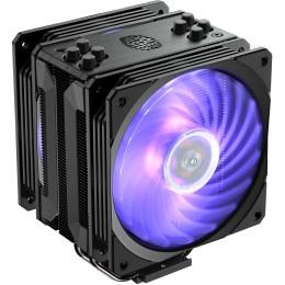 Ventola hyper 212 rgb black edition, tower, 120mm 650-2000 rpm pwm fan, 4x heatpipes, full socket support