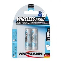 Ansmann maxe batteria ricaricabile nimh, formato stilo (aa), conf. 2pezzi. per mouse e tastiere wireless