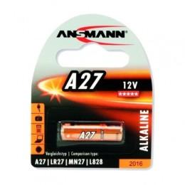 Ansmann batteria  alcalina formato a27 da 12v per dispositivi a basso consumo energetico. confezione da 1 pezzo