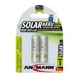 Ansmann solar batteria ricaricabile  formato stilo (aa)- per luci a ricarica solare. 2 pezzi.