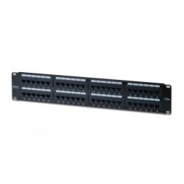 Patch panel 48 porte non schermato utp cat5e 8 poli rack 19 2 unit&1