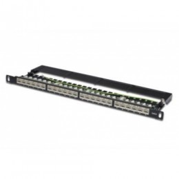 Patch panel 24 porte schermato cat6 0,5 unit&192, rack 19