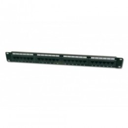 Patch panel 24 porte non schermato utp cat.6 8 poli rack 19