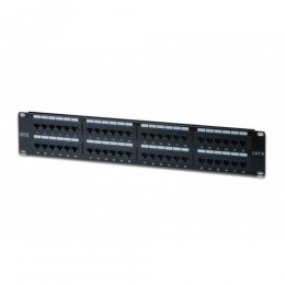 Patch panel 48 porte non schermato utp cat6 8 poli rack 19 2 unit&19
