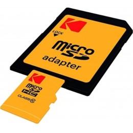Sd micro 128gb cl10 uhs-i u3 v30 a1 ultra con adattatore kodak