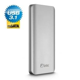 Fantec alu31msata box per dischi da 2,5 in alluminio, silver
