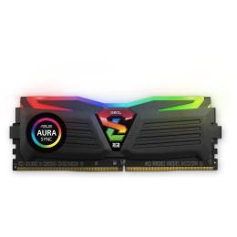 Geil 16gb(8gbx2) pc4 3200mhz super luce rgb sync heatsink system 16-20-20-40 - black