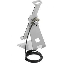 Inline supporto stand tablet 10-13, antitaccheggio, cavo acciaio 4,4mm, per esposizione/presentazioni, bianco