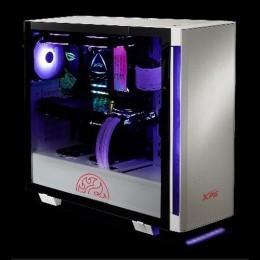 Adata xpg case mid.t invader white argb alluminio vetro 2*120mm fan
