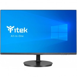 Itek aio barebone - 23.8 ips, h410, cam, mic, wifi, bt, spkr, 2xusb3, 2.5hs, slim, carbon fibre