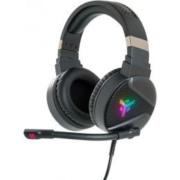 Cuffie gaming h410 - pc e console, contr. volume, 7 colori led, 2x3.5mm e usb con adattatore