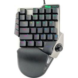 Tastiera gaming x40 - una mano,  console/pc, meccanica, ls switch, rgb,  macro & turbo, jack cuffie e  mouse, 3d joystick, 3xusb