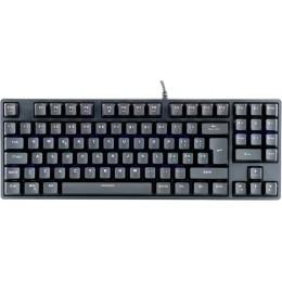 Tastiera gaming x50 - meccanica,  switch blu outemu, rgb, software, 90 tasti, compatta
