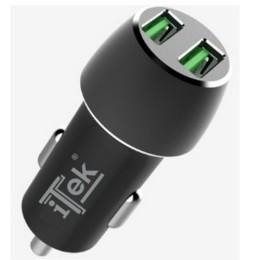 Itek caricabatteria per auto da 36w 6a (2x3a) - 2 porte qc3.0 smart ic