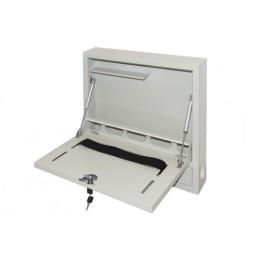 Armadio a muro per notebook con chiusura chiave grigio con pistoni
