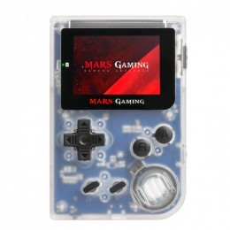 Mars gaming mrbw console con 151 giochi, slot microsd, emulatore gba, sega, nes, fc/sfc white