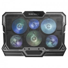 Mars gaming mnbc4 notebook cooler con 6 ventole rgb