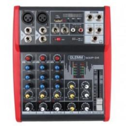 Mixer karma mxp04 4ch microfonico 2ingr microfono 4ingr line