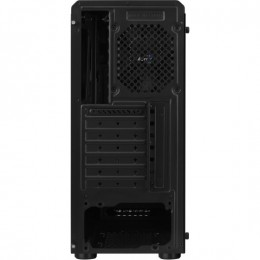 Aerocool rift rgb case middle tower - tempered glass panel  - black