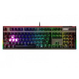 Tastiera gaming vigor gk80 black meccanica silver illuminazione rgb