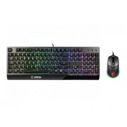 Tastiera + mouse gaming vigor gk30 black usb illuminazione rgb msi