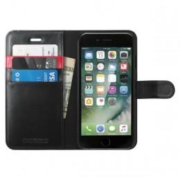Custodia iphone 7 wallet s black pelle