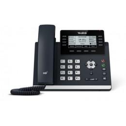 Telefono ip yealink t43u 12 account sip 2p gigabit poe display lcd 3,7