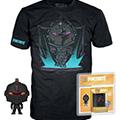 T-shirt fortnite pocket pop! & tee box black knight (xl)