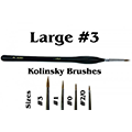 Brushes detail 3 natural kolinsky pennello