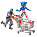Action figure fortnite  cart war paint & firew. team l (hpf)
