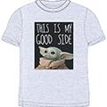 T-shirt star wars the mandalorian : baby yoda (good s) (xs)