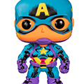 Funko pop ! marvel black light captain america (target excl)