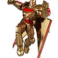 Action figure dc multiverse : batman hellbat suit (gold ed.)