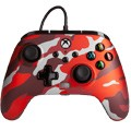 Controller wired powera camo red (xbox one / series x / pc)