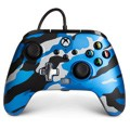 Controller wired powera camo blue (xbox one / series x / pc)