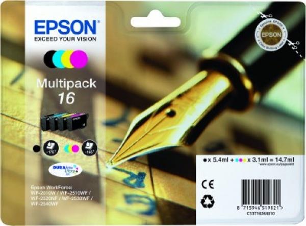 Ink epson wf2010 pack bk/c/m/y durabrite ultra
