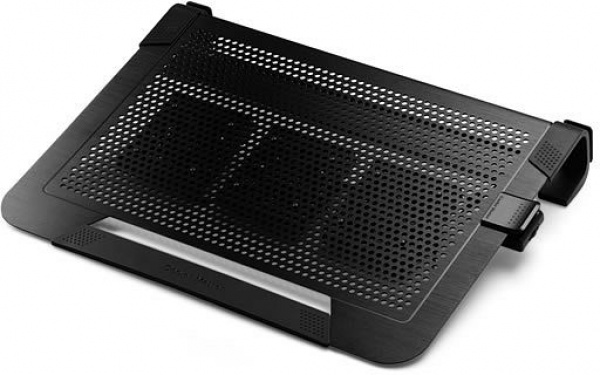Notepal u3 plus - up to 19, 3x 80mm removable fans, aluminum surface, lightweight design - nero